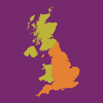 map of UK with england highlighted