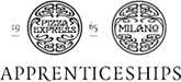 Pizza Express and Milano logos